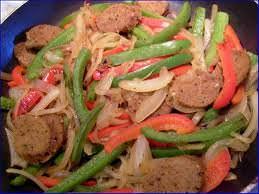 cajun sausage stir fry meal