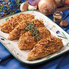 crispy onion chicken meal