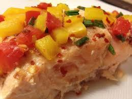 grilled salmon with smoky yellow pepper salsa meal