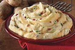 loaded mashed potatoes dinner