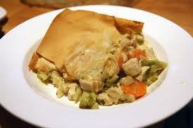 old fashioned chicken pot pie dinner