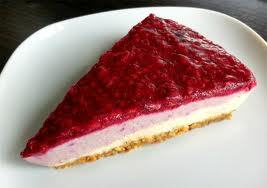 raspberry cheesecake desert