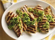 salsa verde chicken dinner