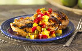southwestern chicken with mango salsa
